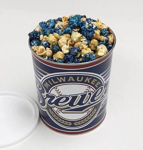 Brewers Tin with Brewer's Pride Popcorn