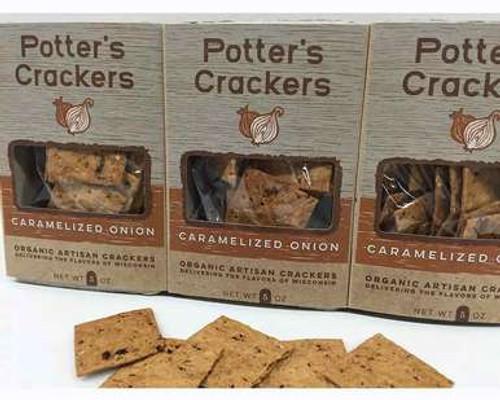 Caramelized Onion Crackers
