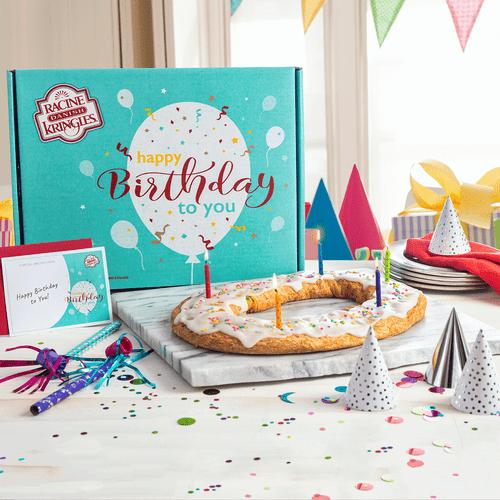 Racine Danish Kringles Birthday Gift Box and Kringle