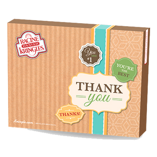 Racine Danish Kringles Thank You Gift Box and Kringle