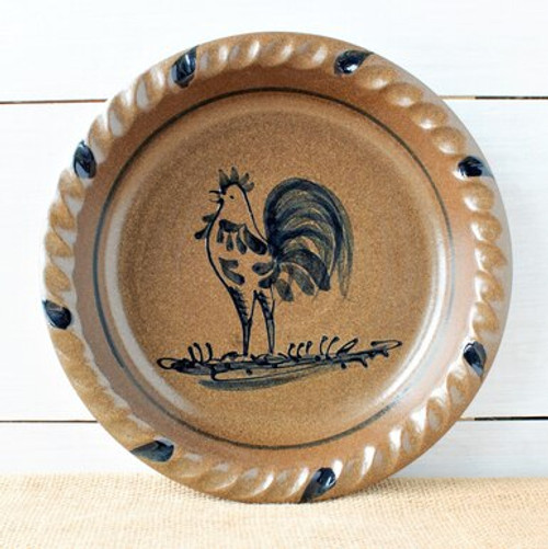 Rooster Pie Plate