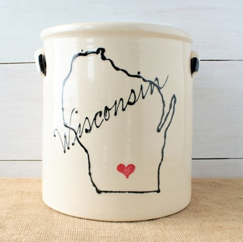 Rowe Pottery Home State Crock - 2 Gallon