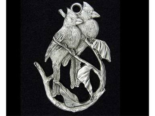Christmas Bird Ornaments - Pewter Cardinal