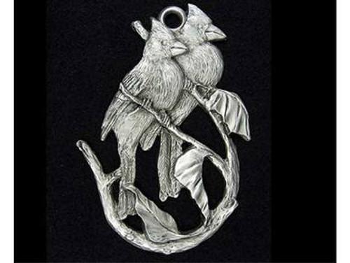 Christmas Bird Ornaments - Pewter Cardinal