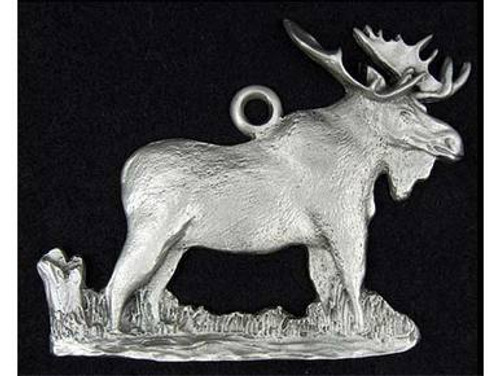 Holiday Ornaments - Pewter Moose