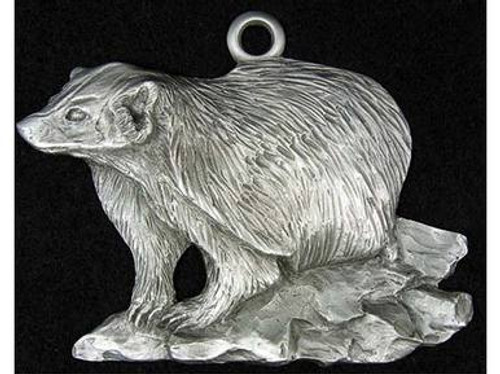 Wisconsin Badger Pewter Ornaments