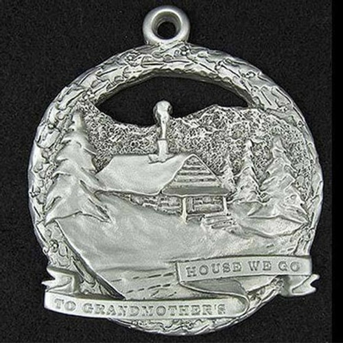 Holiday Pewter Ornaments - Grandma's House