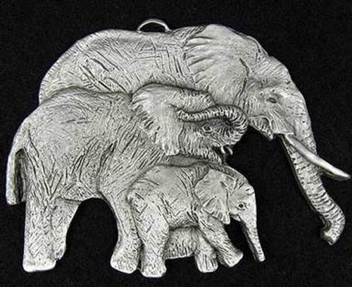 Pewter Ornament - Elephant Family