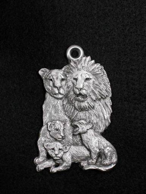 Pewter Ornament - Lion Family