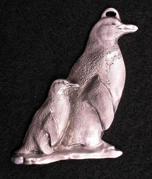 Pewter Ornament - Penguin Mother and Chick