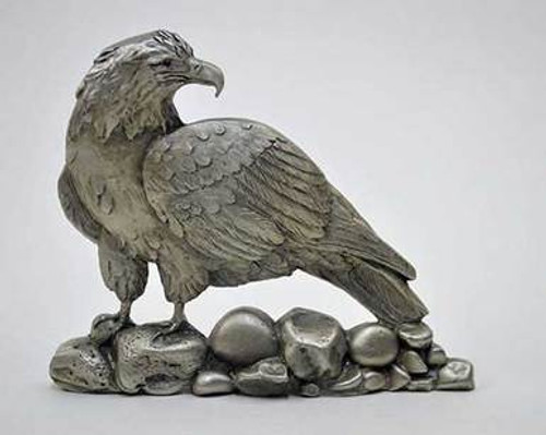 Pewter Shelf Accent - American Bald Eagle
