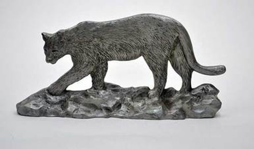 Pewter Shelf Accent - Cougar