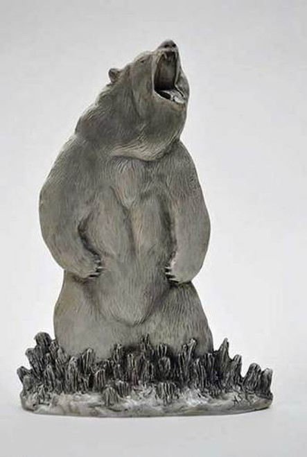Pewter Shelf Accent - Grizzly Bear