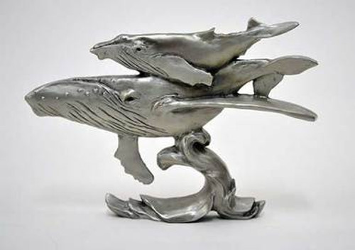 Pewter Shelf Accent - Humpback Whales