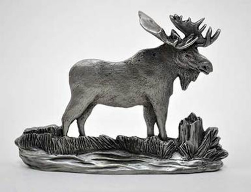 Pewter Shelf Accent - Moose