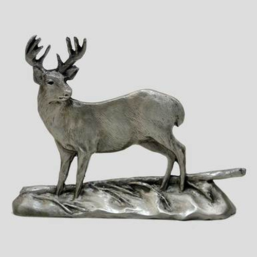 Diving Musky Pewter Figurine