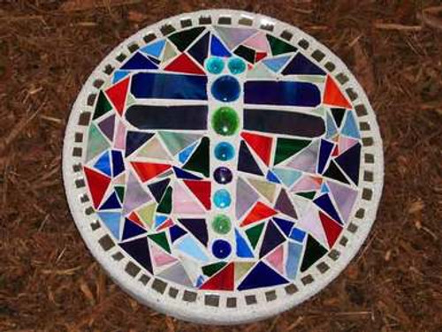 Dragonfly Stained Glass Stepping Stone
