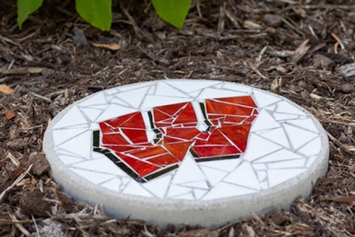 Wisconsin Motion W Stained Glass Stepping Stone