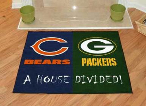Packers House Divided Mat - Packers and Bears