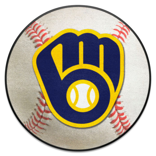 Milwaukee Brewers Fanmat Ball-Shaped Rug