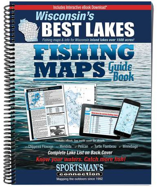 Wisconsin's Best Lakes Fishing Maps Guide Book
