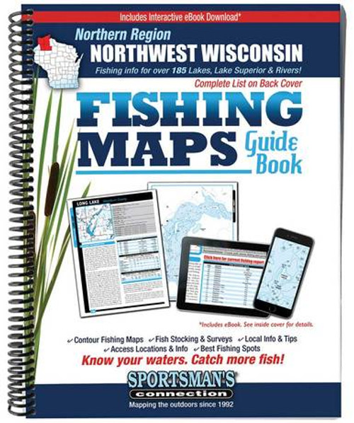 Northwest Wisconsin Northern Region Fishing Maps G