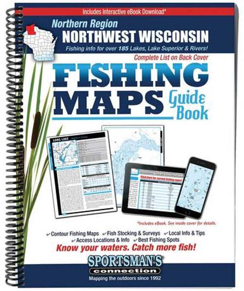 Northwest Wisconsin Northern Region Fishing Maps G