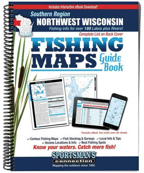 Northwest Wisconsin Southern Region Fishing Maps Guide Book