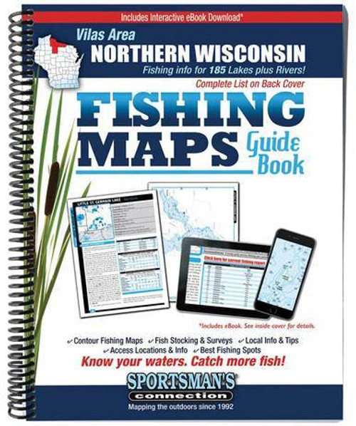 Northern Wisconsin Vilas Area Fishing Maps Guide B
