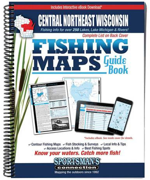 Central Northeast Wisconsin Fishing Maps Guide Book