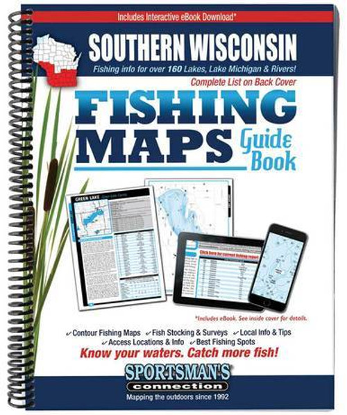 Southern Wisconsin Fishing Maps Guide Book