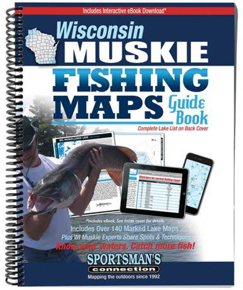 Wisconsin Muskie Fishing Maps Guide Book