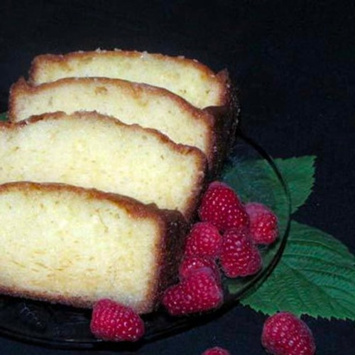 Raspberry Almond Loaf Sliced