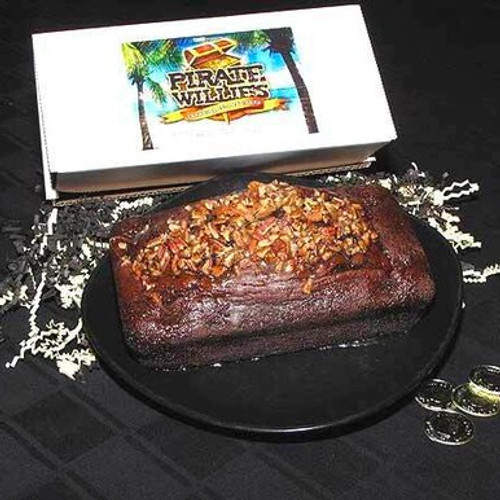 Chocolate Mint Liqueur Loaf Cake with Pecans