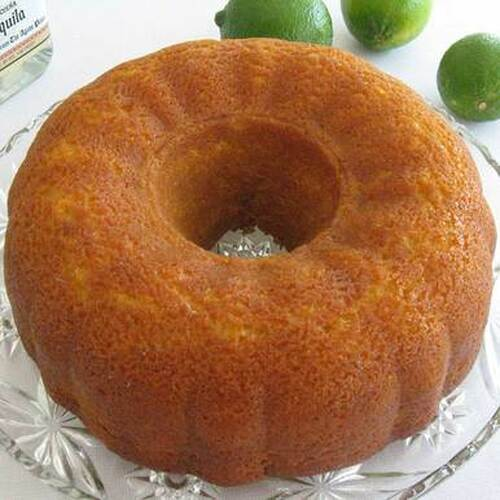 Lime Margarita Cake with Premium Tequila