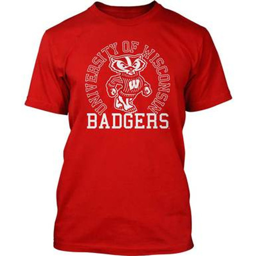 Wisconsin Badgers Bucky Circle T-Shirt - Mens