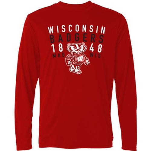 Wisconsin Badgers 1848 Long Sleeve Adult Tee