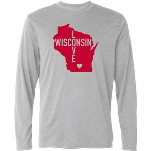 Wisconsin Love Long Sleeve T-Shirt - Adult