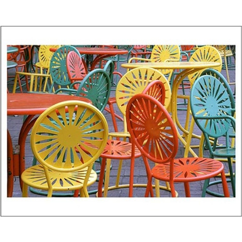 Terrace Chairs - University of Wisconsin Poster