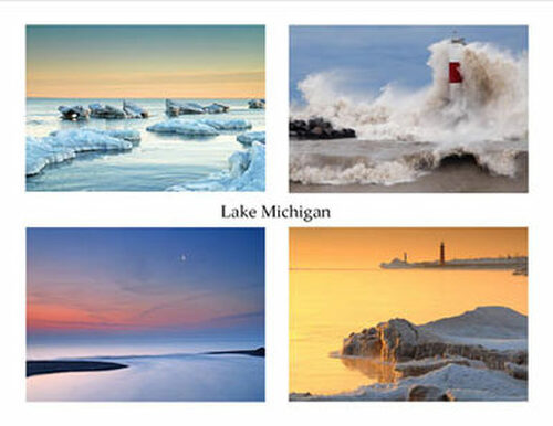 Photo Note Cards - Lake Michigan