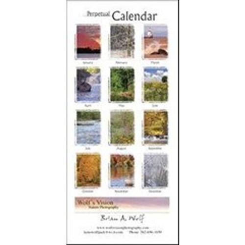 Perpetual Calendar - Wisconsin Scenery - Back Cover