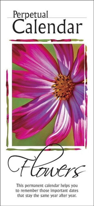 Main Image - Front and Back Covers - Perpetual Calendar: Flowers