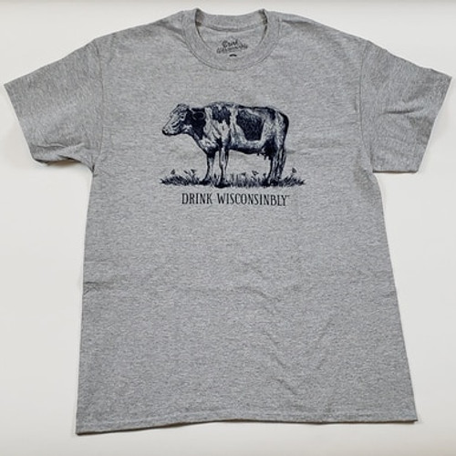 Drink Wisconsinbly Cow T-Shirt - Mens