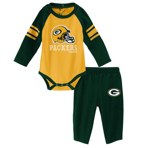 Green Bay Packers NFL Future Starter Infant Long Sleeve Creeper & Pant Set