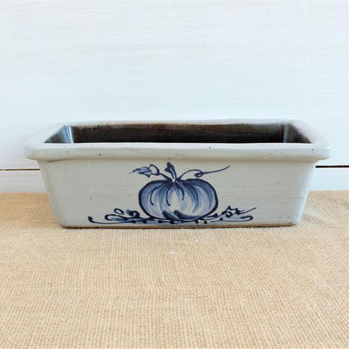Rowe Pottery Seasonal Loaf Pan - Thankful design
