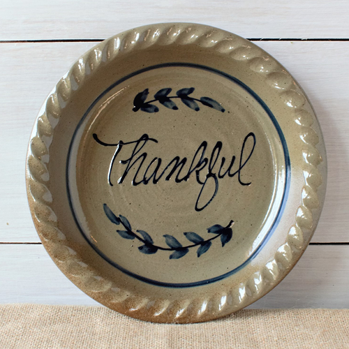 Pumpkin Pie Plate by Rowe Pottery