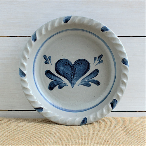 Rowe Pottery Heart Pie Plate - 45th Anniversary Edition