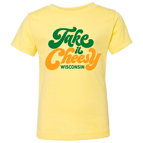 GILTEE - Take It Cheesy Wisconsin Toddler Tee