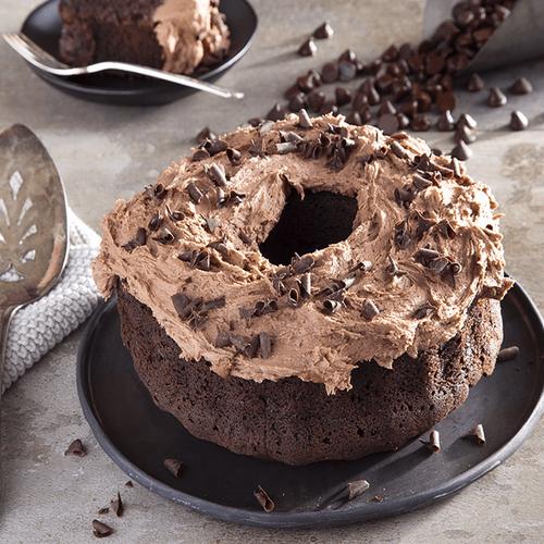 Triple Chocolate Danish Crown Cake