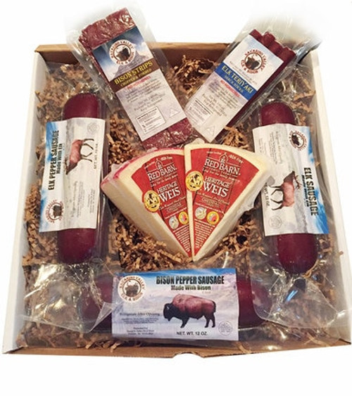 Elk and Bison Snack Gift Box